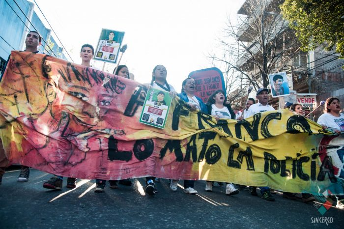 """""""A Franco Casco lo mató la policía, ni unx pibx menos"""""""