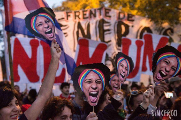 Marcha exigiendo justicia por Marielle Franco