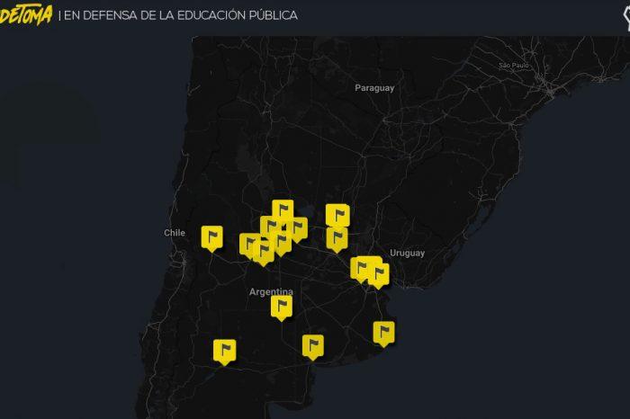 Mapa de las tomas